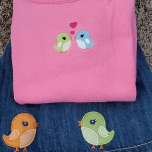 Cute GYMBOREE Love bird (birdy) set 5T